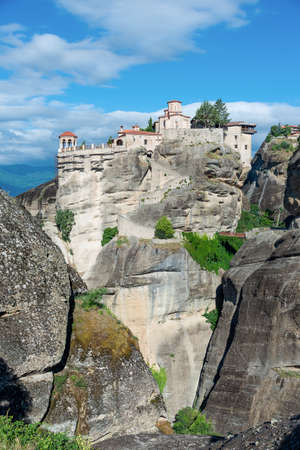Traditional monastery in Meteora, religious site of Greece