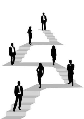 Illustration of business people hierarchy