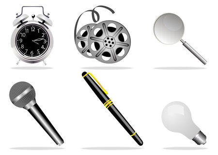 illustration of high detailed web icons Vector