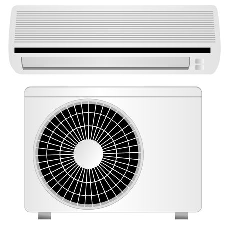 acclimatization: air conditioner vector illustration, isolated