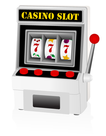 Illustration of a detailed slot machine Vectores