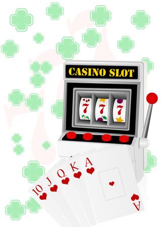 stake: Gambling illustration with casino elements Illustration
