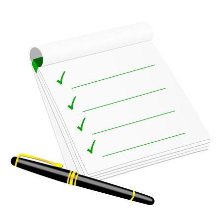 Checklist isolated on white background Stock Vector - 5875991