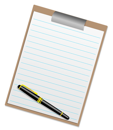 Illustration of a clipboard with space for your text Stock Vector - 5876053