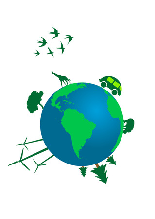 antipollution: Illustration of an ecological concept of world