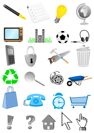 Collection of detailed web icons Vector