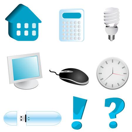 Illustration of various web elements