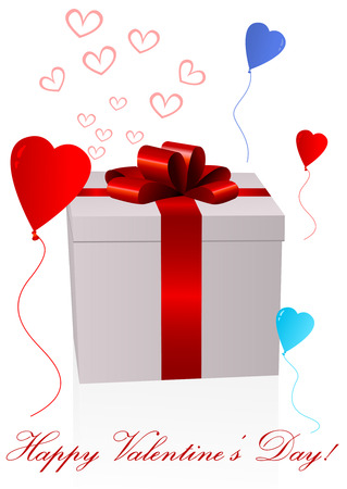 Valentines day background with present Vector