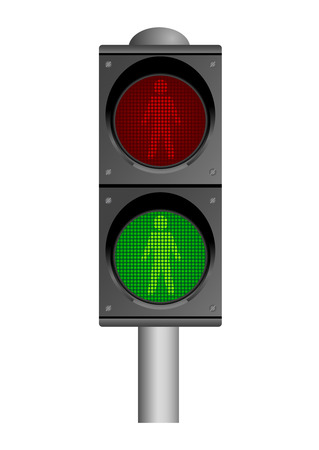 Detailed illustration of traffic lights, isolated on white background Stock Vector - 5903062
