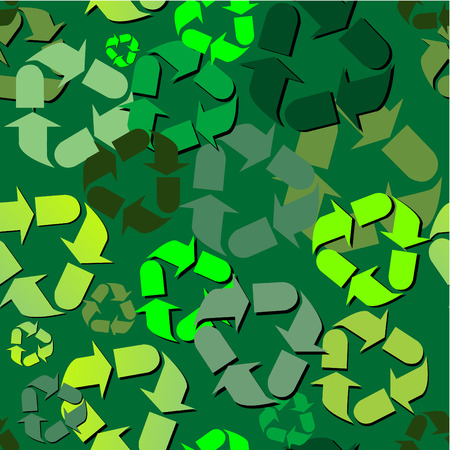 Recycle pattern that can be used as a background or fill and can be multiplied