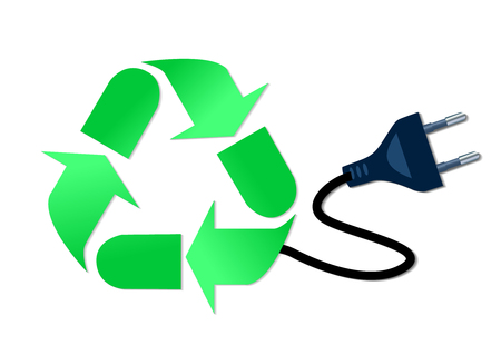 antipollution: Illustration of recycle and reduce concept