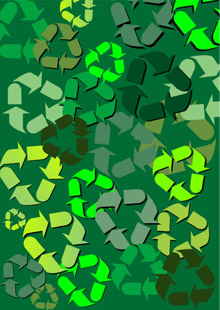 Background with recycle pattern Иллюстрация
