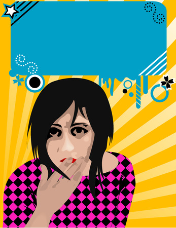 textbox: Emo girl  illustration with text-box
