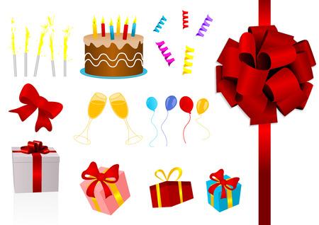 felicitation: Illustration of some party elements Illustration
