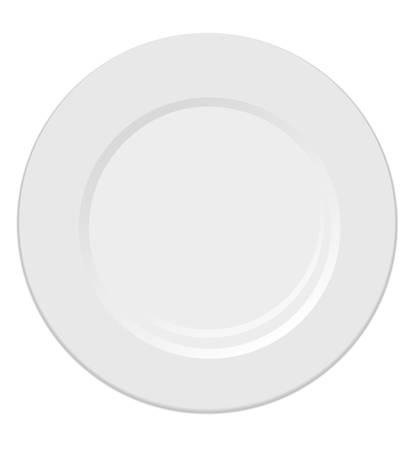 dinning table: White plate isolated on white background