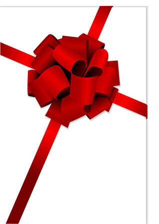 bows and ribbons: Illustration of a beautiful red glossy bow Illustration