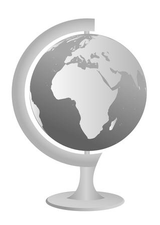 Globe illustration, isolated on white background Stock Vector - 5992241