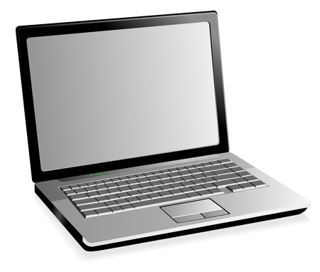Stylish illustration of a laptop Vector