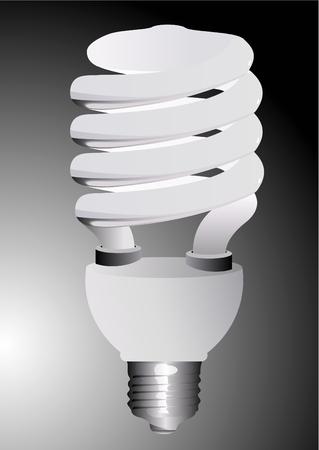 bombillo ahorrador: Ilustraci�n de una bombilla de luz