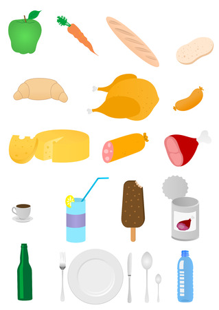 Set of general food industry products Stock Vector - 6016529