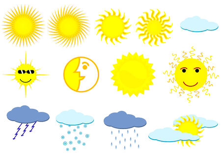 Illustration of weather elements