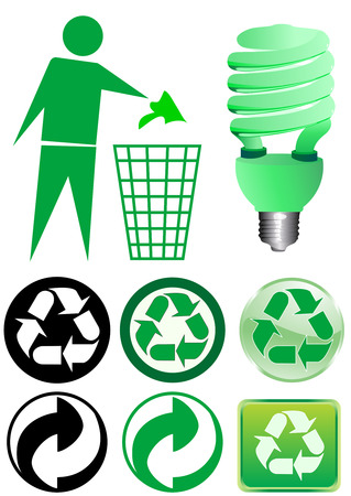 Vector of various recycle elements Vector