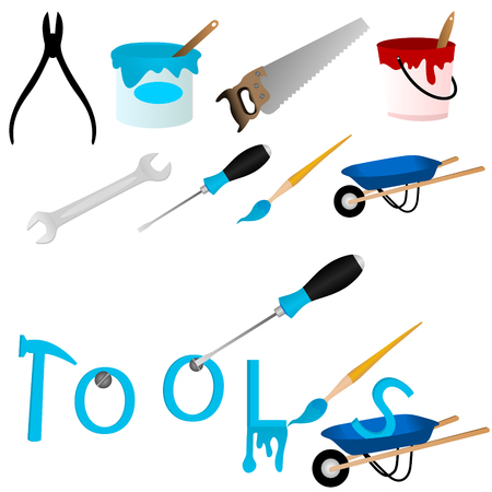 Set of repair tools and the word