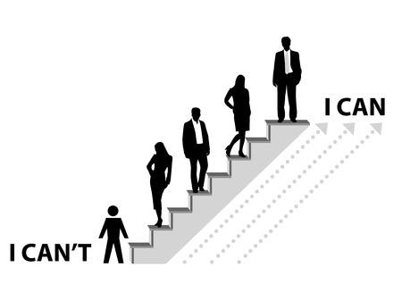corporate hierarchy: Illustrazione concettuale del raggiungimento di un obiettivo