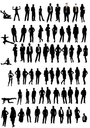 Illustration of men and women shapes