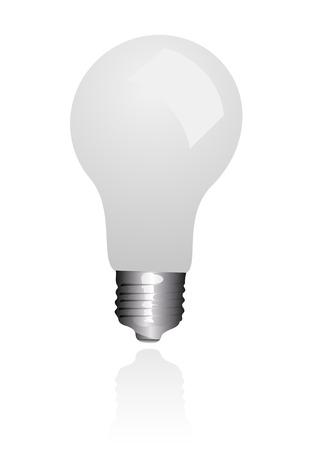 bombillo ahorrador: Ilustraci�n de una bombilla econ�mica aislado sobre fondo blanco