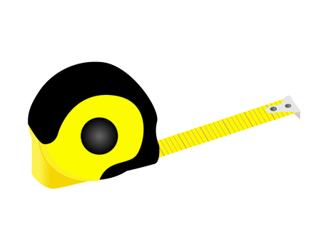 Illustration of a detailed tape measure isolated on white background Illustration