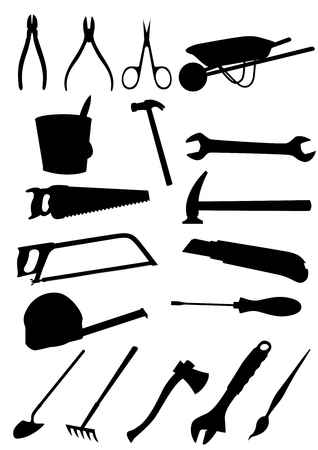 Set of detailed tools isolated on white background Stock Vector - 6546054