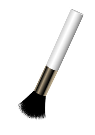 Make-up brush isolated on white background Stock Vector - 6546062