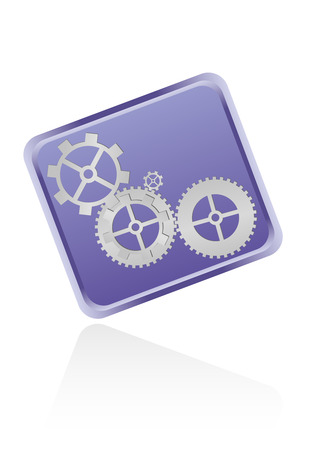 Web icon with gears isolated on white background Stock Vector - 6584437