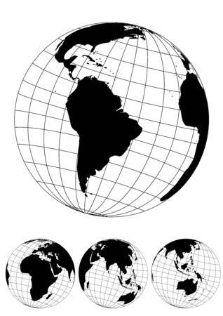 Globe illustration of the World Stock Vector - 6668405