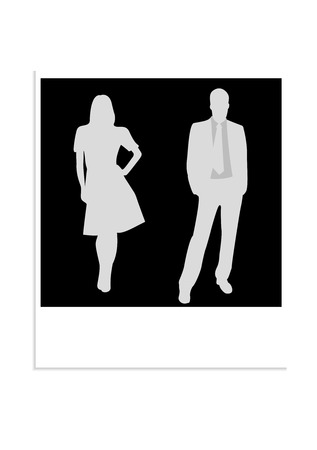 Illustration of a photo with business people Vector