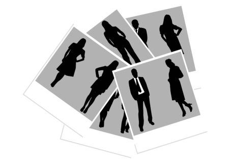 Illustration of photos with business people Vector