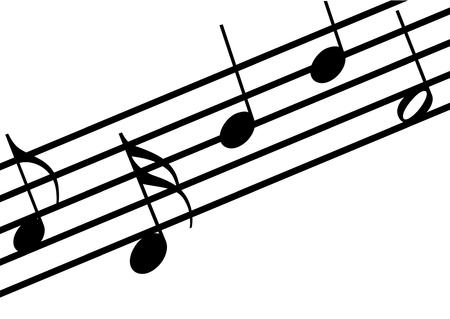 musicsheet: Illustration of a stavet on white background