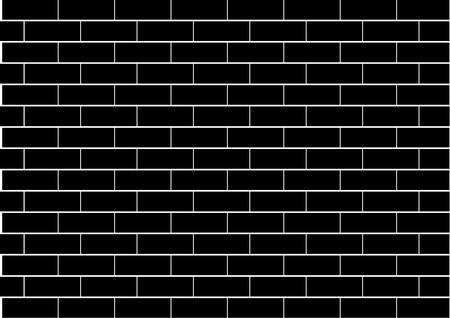 brick and mortar: Illustration of a black brick wall