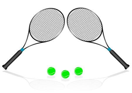 Sport illustration with tennis rackets Illustration