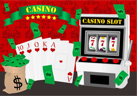 Gambling illustration with casino elements Stock Vector - 7001365