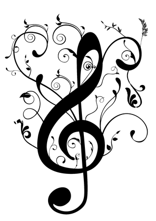 Conceptual illustration of a G clef Vectores