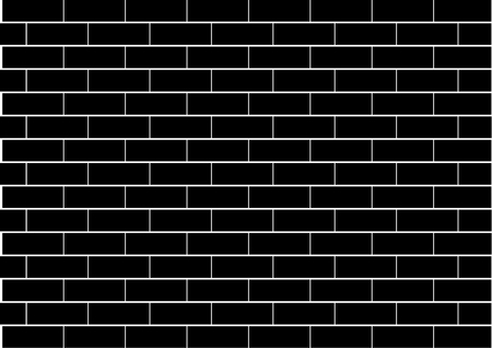 stein schwarz: Abbildung einer schwarzen Brick-Wand Illustration