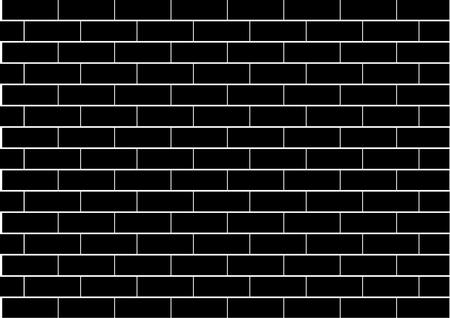 Illustration of a black brick wall