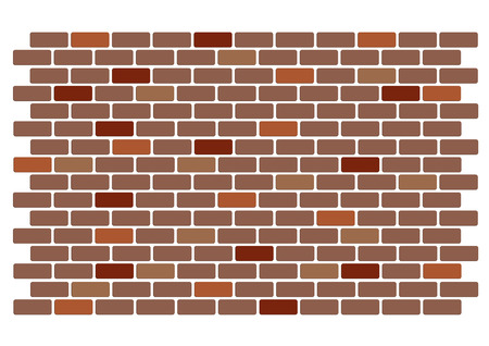Illustration of a red brick wall Vector