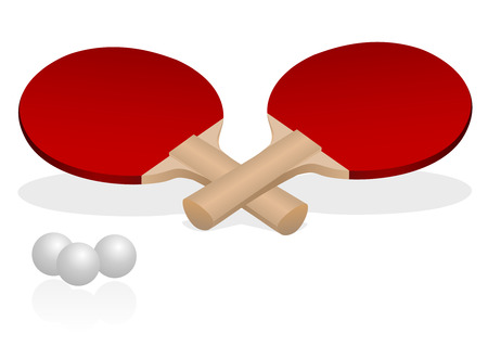 Detailed illustration of two table tennis rackets Vector