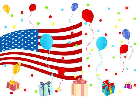 senate: Background illustration of celebrating 4th July Illustration