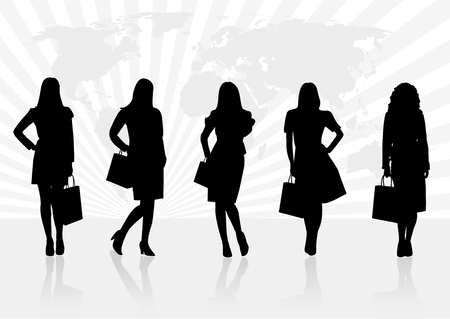 Conceptual sale illustration with women shapes Vector