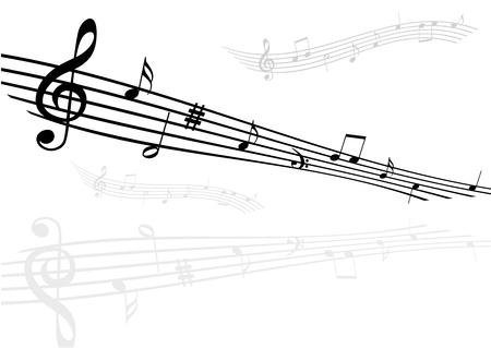 Illustration of  staves on white background Illustration