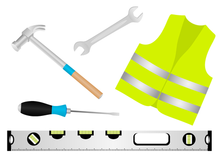 Illustration of detailed construction elements